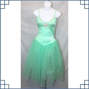 Other - Mint Lycra Leo with romantic tutu Ballet Costume